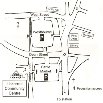 Pictoral map of Liskerrett Centre location